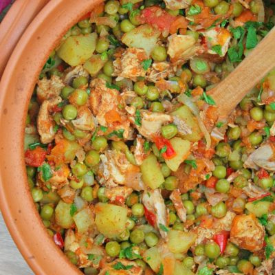 Oven Chicken Stew With Veggie And Peas