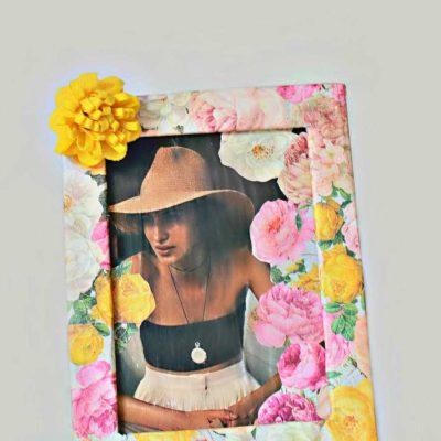 DIY Floral Picture Frame Craft