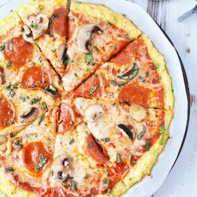 Low Carb Crispy Cauliflower Pizza Crust