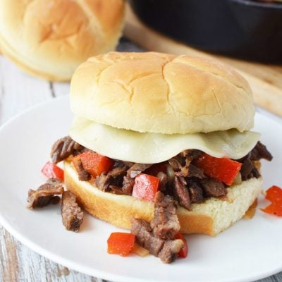 Philly Cheesesteak Sloppy Joe With Chopped Steak