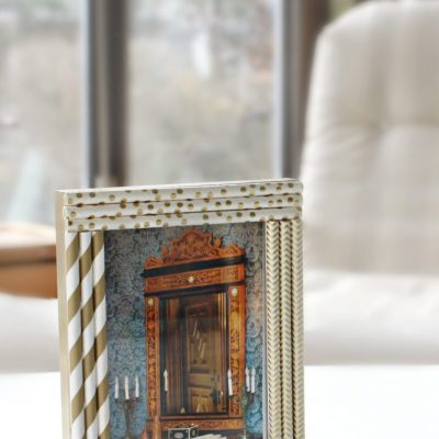 Fun Straw Frame Decorating Idea