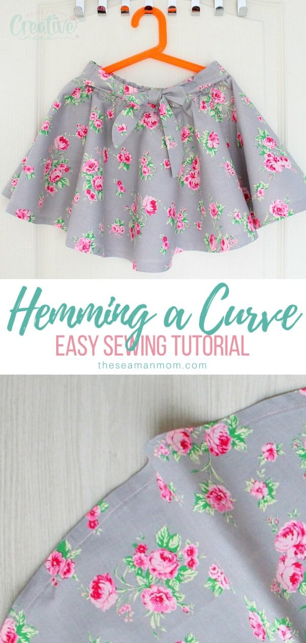Learning how to make acurved hem comes in very handy, especially when making dresses or circle skirts. Here is an easy method that will give you a smooth, neat finish on any curved hem. via @petroneagu