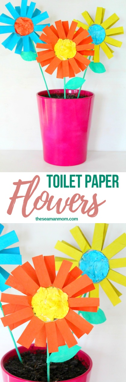 How To Make Paper Flowers For Kids With Toilet Paper Rolls