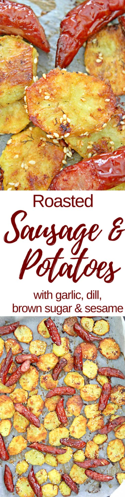 Roasted sausage and potatoes