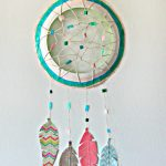 DIY Paper Plate Dream Catcher For Kids