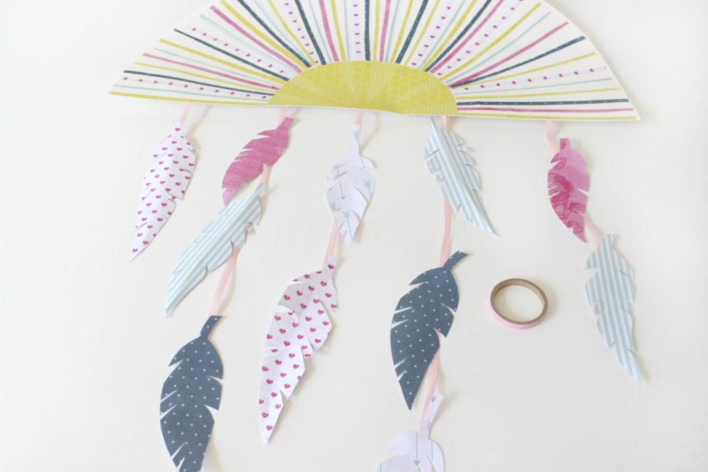feather wall art diy