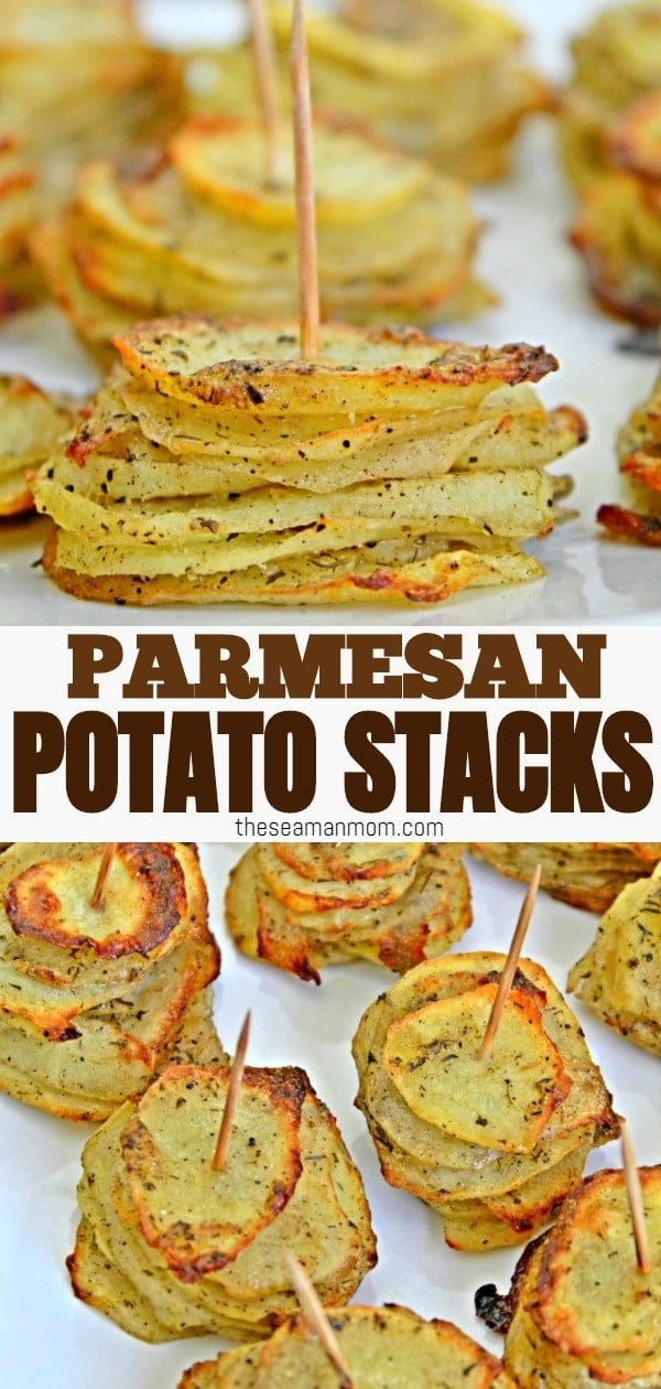 A little crunchy on the edges but with a soft and moist inside, these parmesan potato stacks will impress and satisfy everyone! These lovely layered potatoes are perfect as party appetizers but work just as great as a side dish or a snack! via @petroneagu