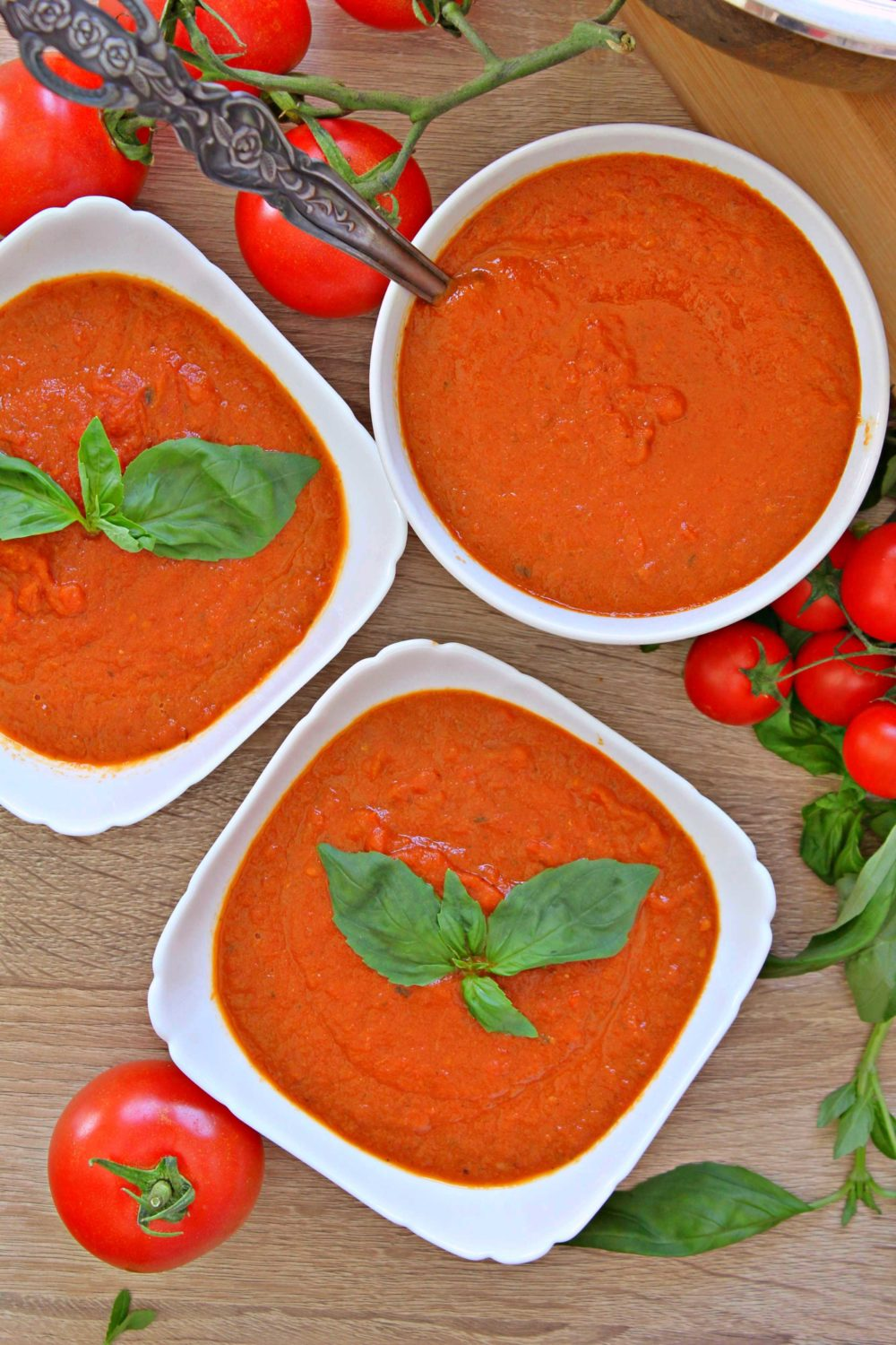 roasted tomato and basil soup