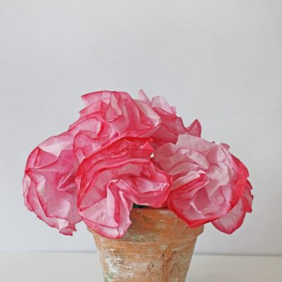 Painted Coffee Filter Flowers