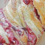 Strawberry Puff Pastry Braid With Cream Cheese