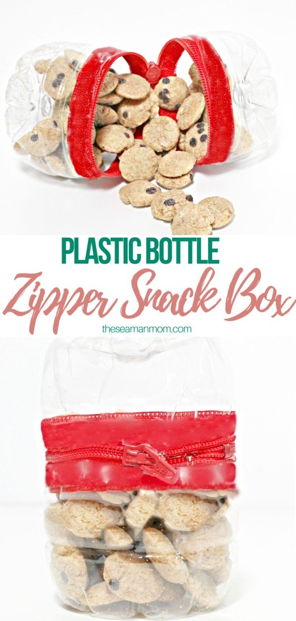 DIY snack box made with recycled plastic bottles