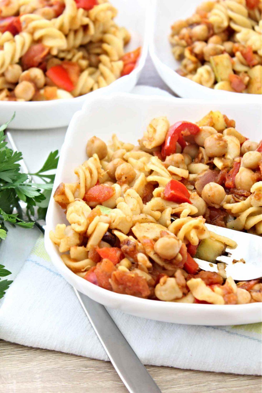 tomato chickpea pasta
