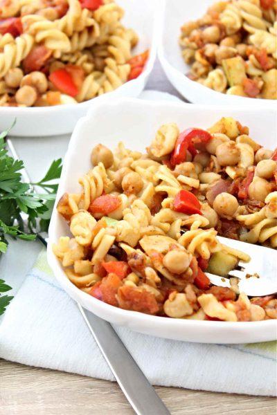 Tomato Chickpea Pasta Recipe