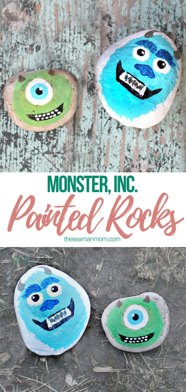 Monster painted rocks