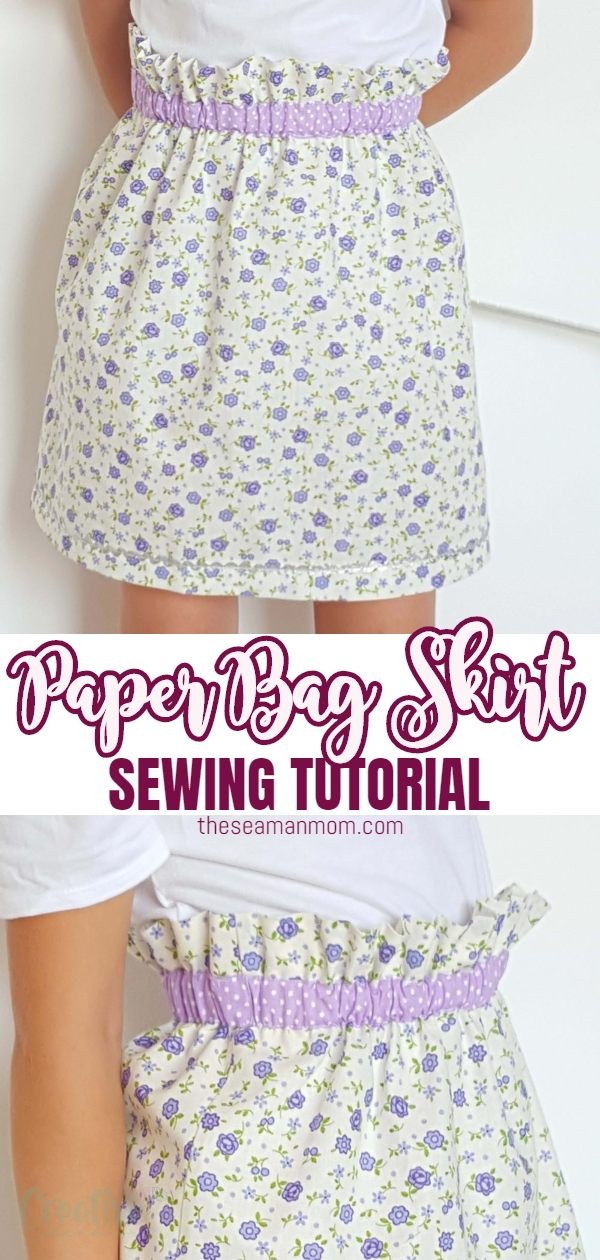 Wanna make a super easy but comfy and cute skirt? This paper bag skirt is just perfect for you! Great beginners project if you're looking forsewing ideas for beginners! via @petroneagu