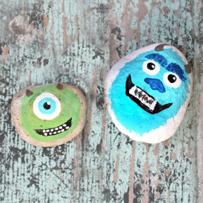 Monster Painted Rocks Craft For Kids Or Garden
