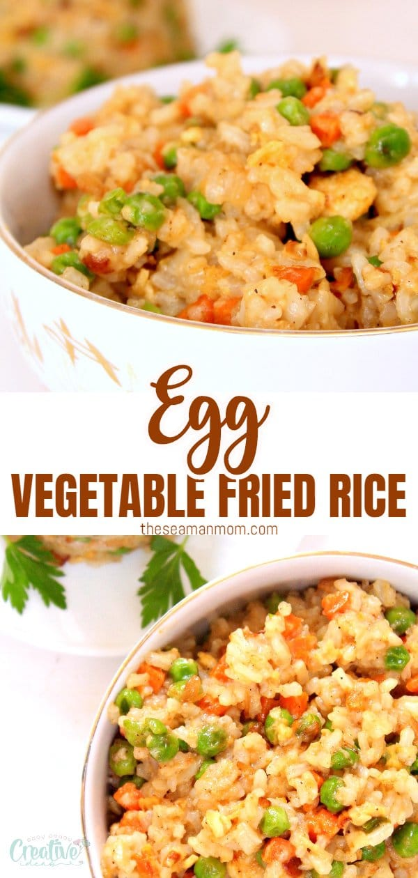 Simple, quick and easy egg fried rice recipe! Makes a wonderful side dish but tastes just as great as a meal on its own too! via @petroneagu