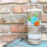 Wine Bottle Art Home Decor Idea