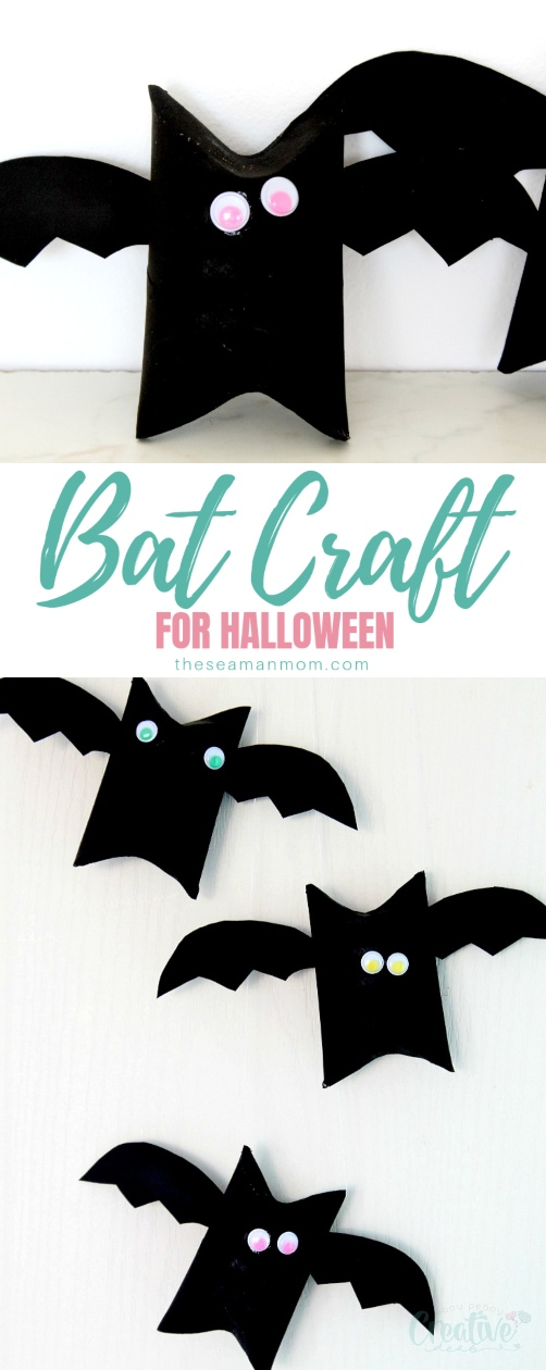 If you're looking for inspiration for an easy and quick Halloween bats craft, check out this bat craft! These toilet paper roll bats are not only a fun Halloween art project for kids but are also cheap and frugal and only take minutes to make! via @petroneagu