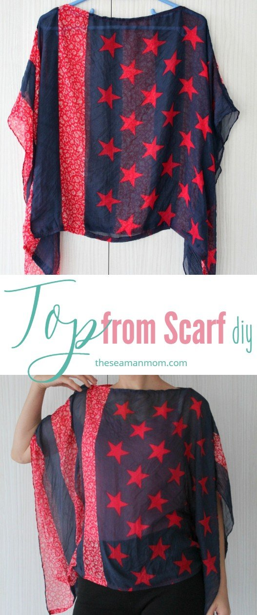 How to sew a scarf into a top