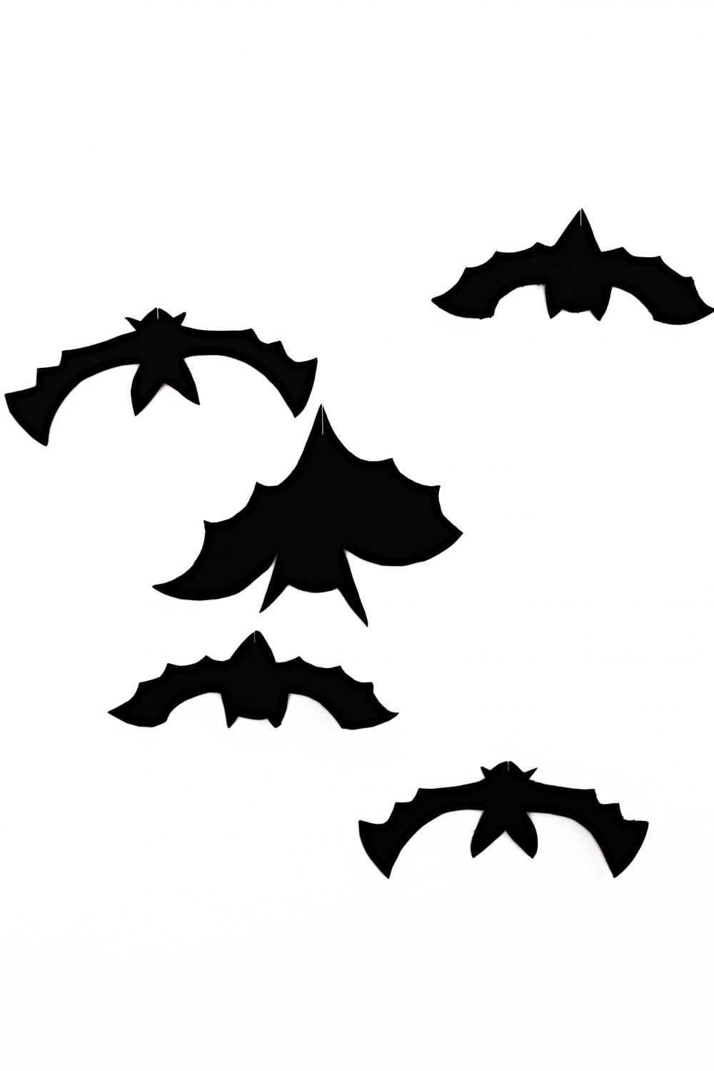 hanging bats halloween decor