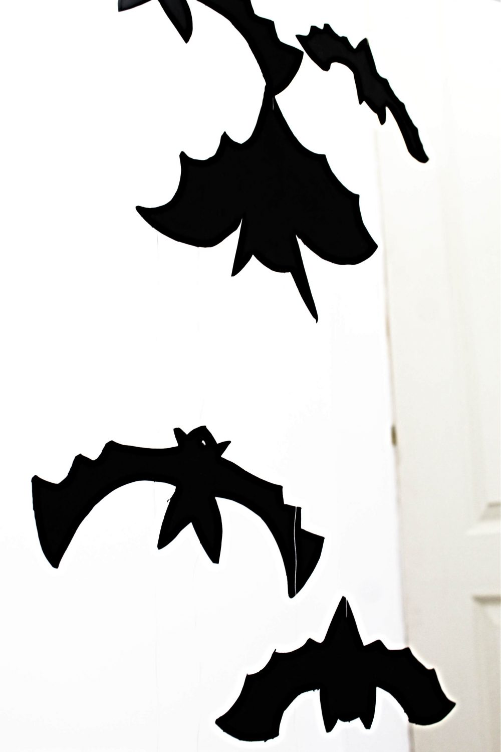 image about Bat Template Printable titled Striking Bats Spooky/Adorable Pleasurable Halloween Decorations