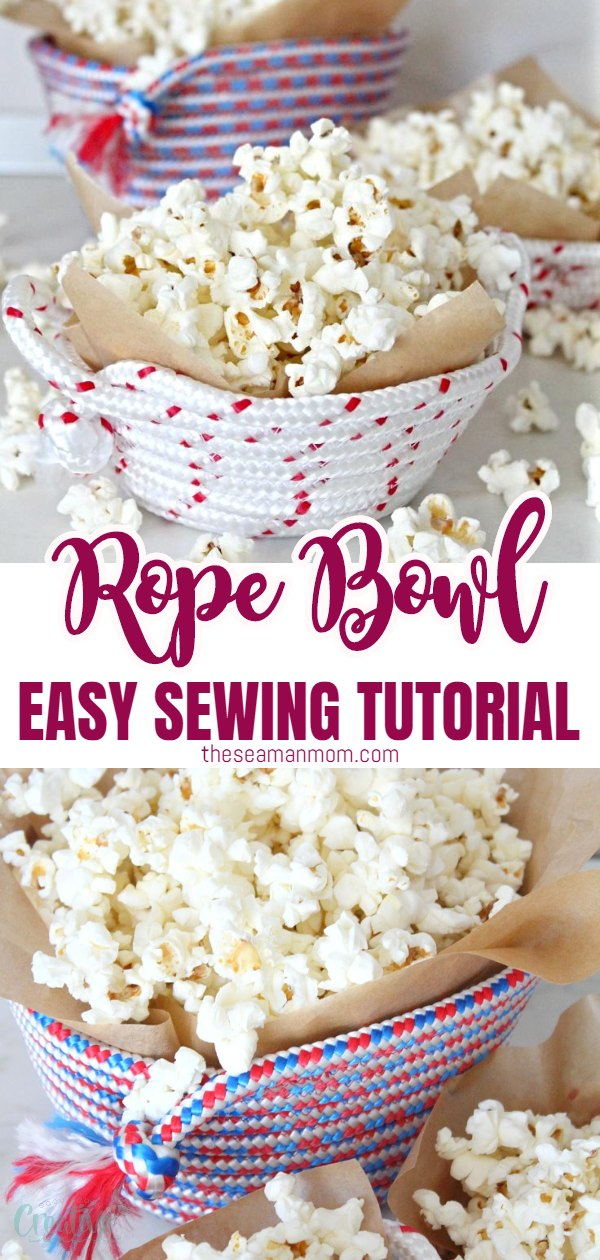 Turn the humble rope into a beautiful, handy rope bowl! This easy and enjoyable tutorial will show you how to sew a bunch of rope bowls in just a few minutes! via @petroneagu