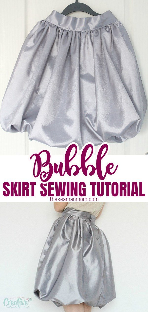 Wanna sew a super easy skirt that is adorable, fun, sweet and innocent? Make yourself an easy bubble skirt that is both flattering and comfortable! via @petroneagu