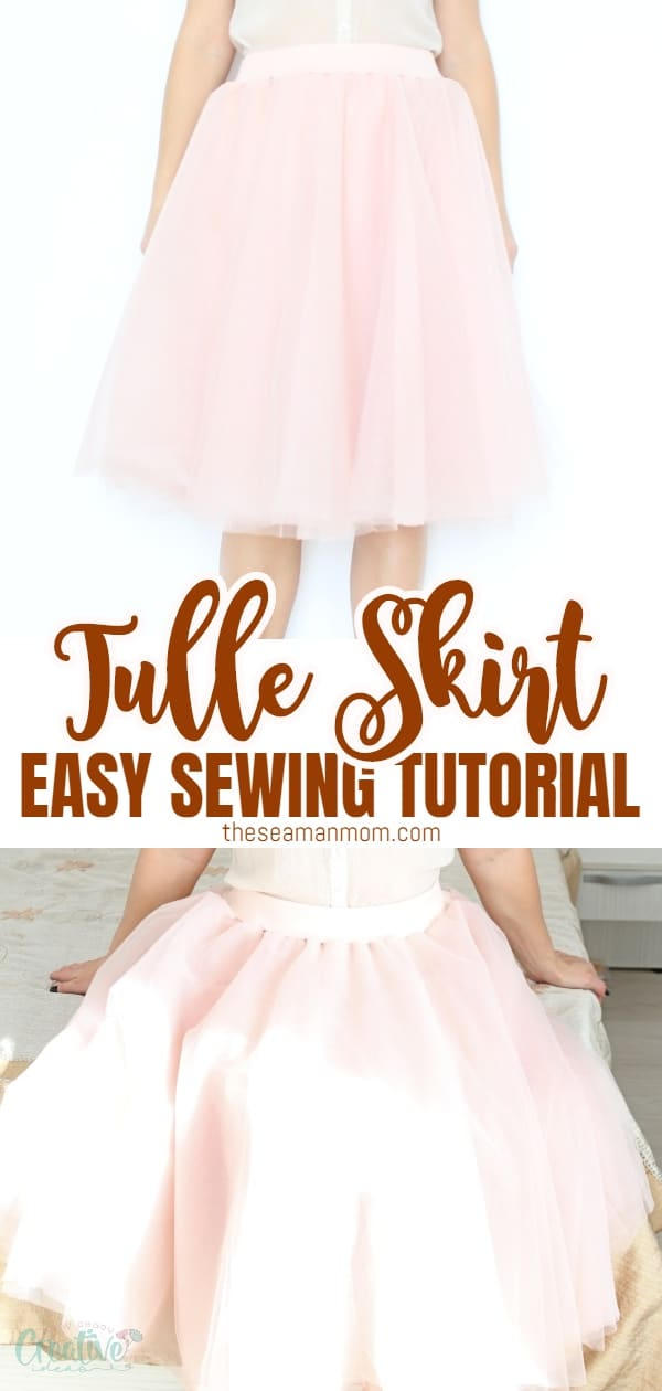 Ever wonderedhow to make a tulle skirt for ladies? Making a tulle skirt is pretty much the same for little girls and women and this DIY tulle skirt tutorial makes the whole process so easy peasy! via @petroneagu