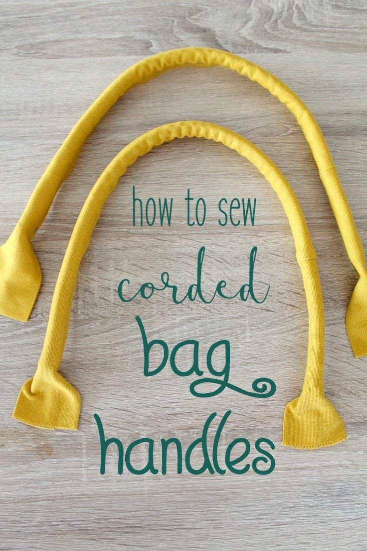 Handbag handles with cording
