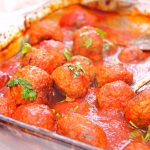 Marinated Meatballs In Sauce For Spaghetti