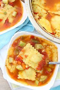 ravioli vegetable soup
