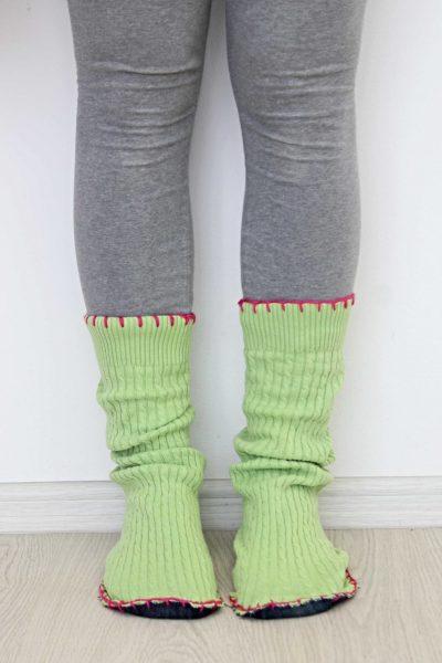 DIY sweater slipper boots