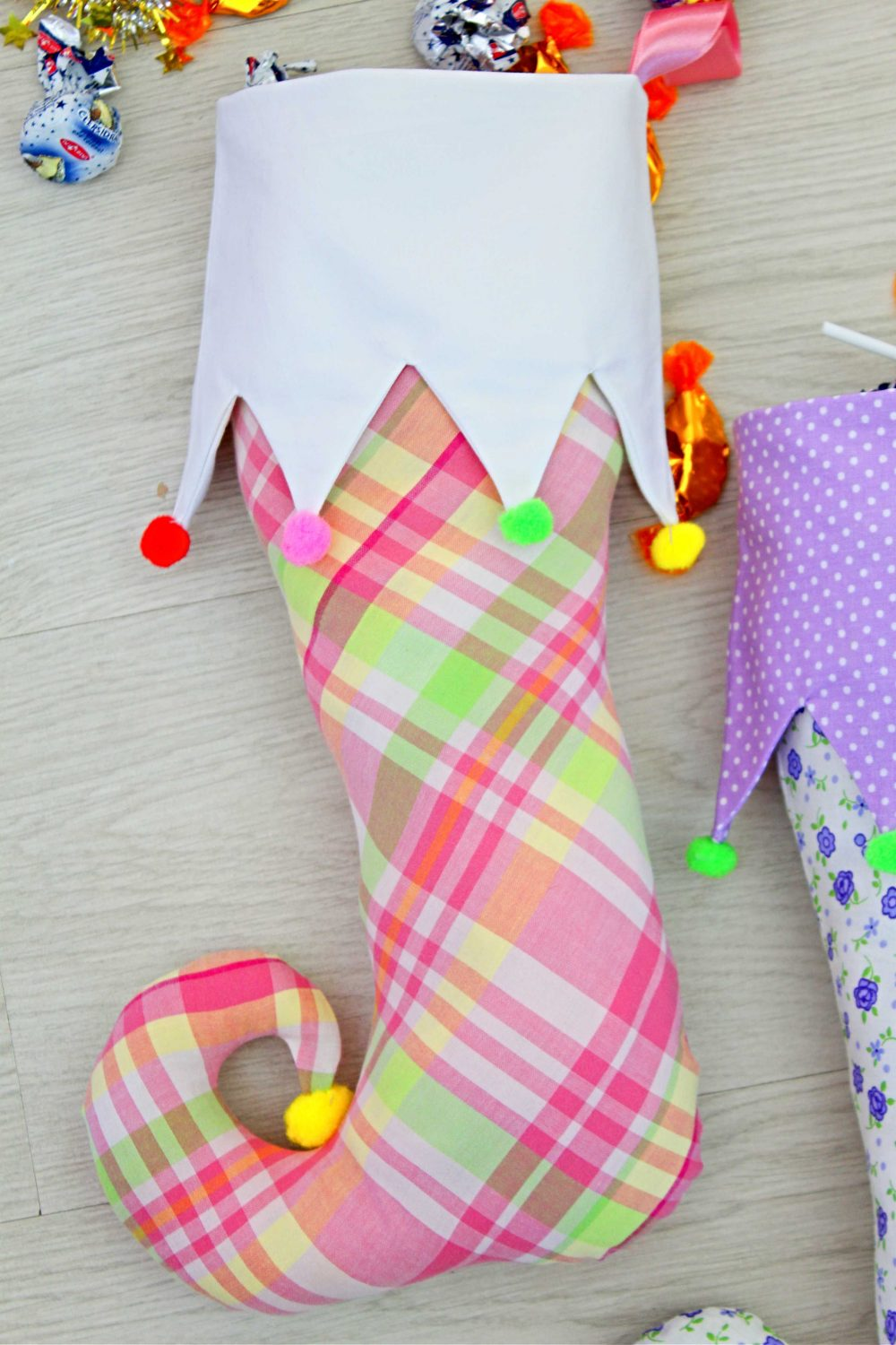 how to make an elf stocking
