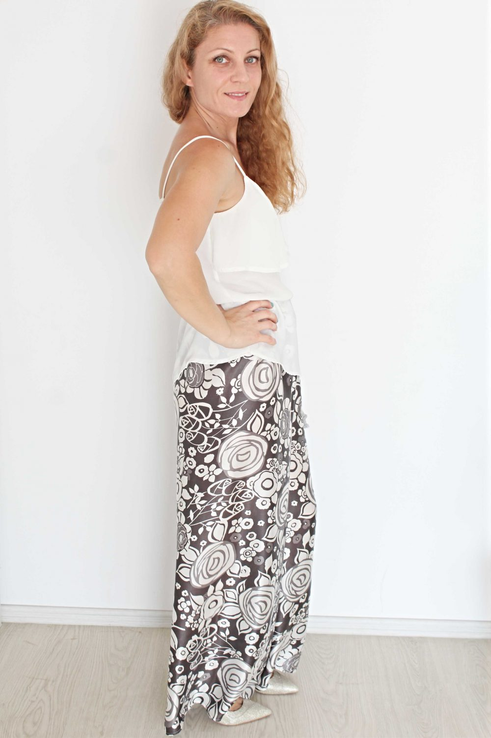ladies wide leg pants
