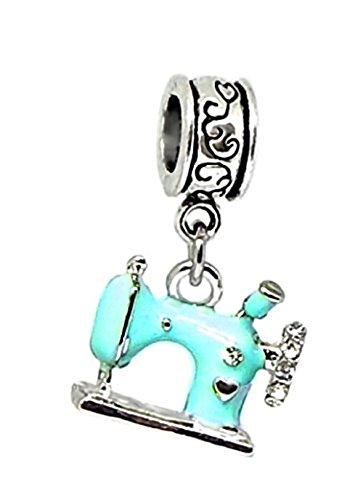 Blue sewing machine charm