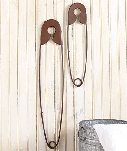Safety pins wall decor