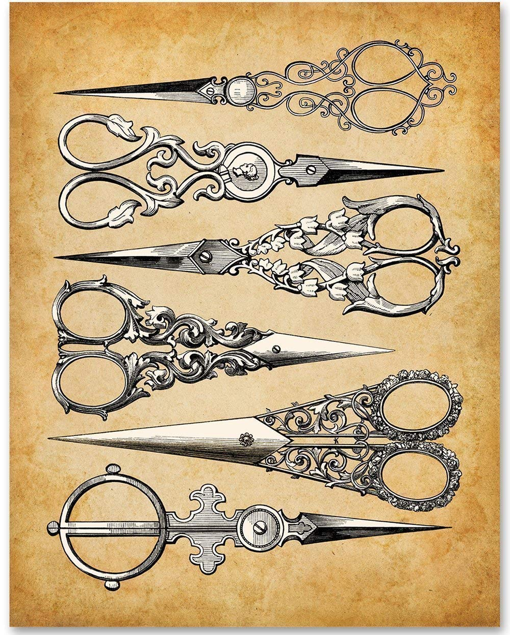 Sewing scissors wall art