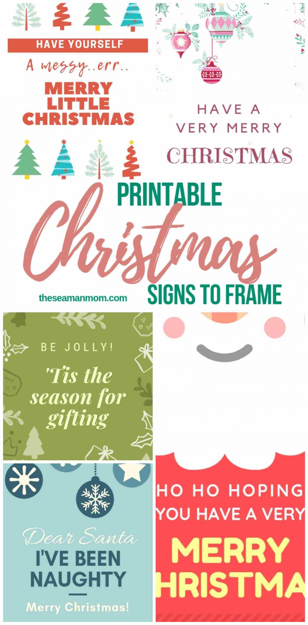 photo relating to Merry Christmas Sign Printable titled Xmas Printables Cheerful, Adorable Enjoyable Property Decor