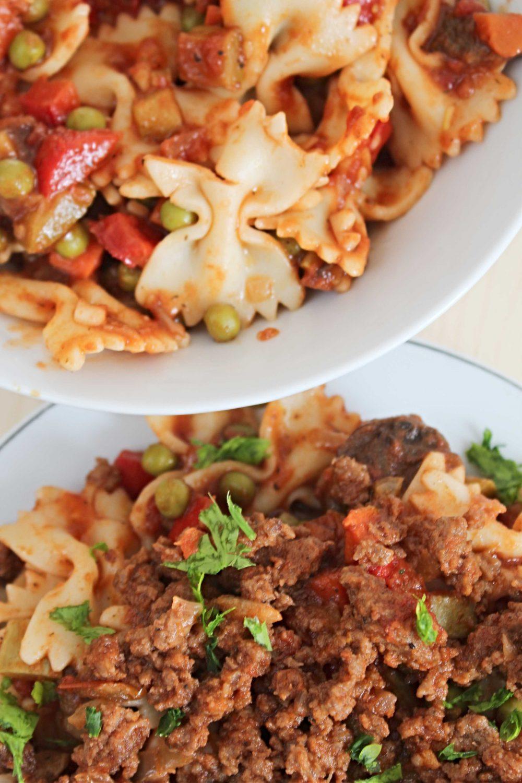 minced beef pasta