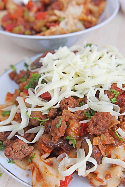 ground beef pasta sauce