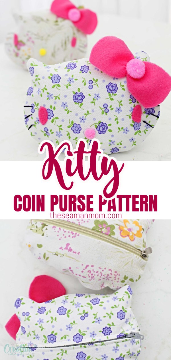 Need a cute gift idea for a little cat lover? This Kitty coin purse is the perfect handmade gift that won't take up a lot of time to make and looks incredibly cute! via @petroneagu