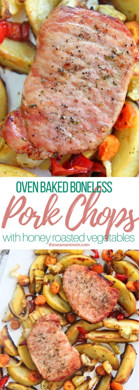 Oven roasted pork chops