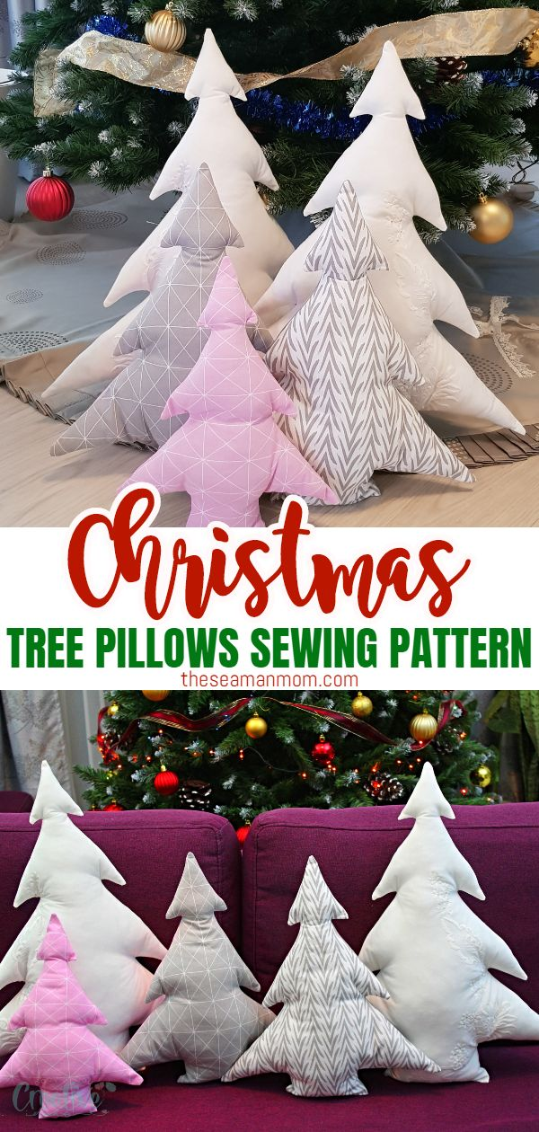 Have you been looking for cute ideas for Christmas pillows to make? A Christmas tree pillow (or a bunch of these cuties) is a fun and adorable addition to your holiday decor! via @petroneagu