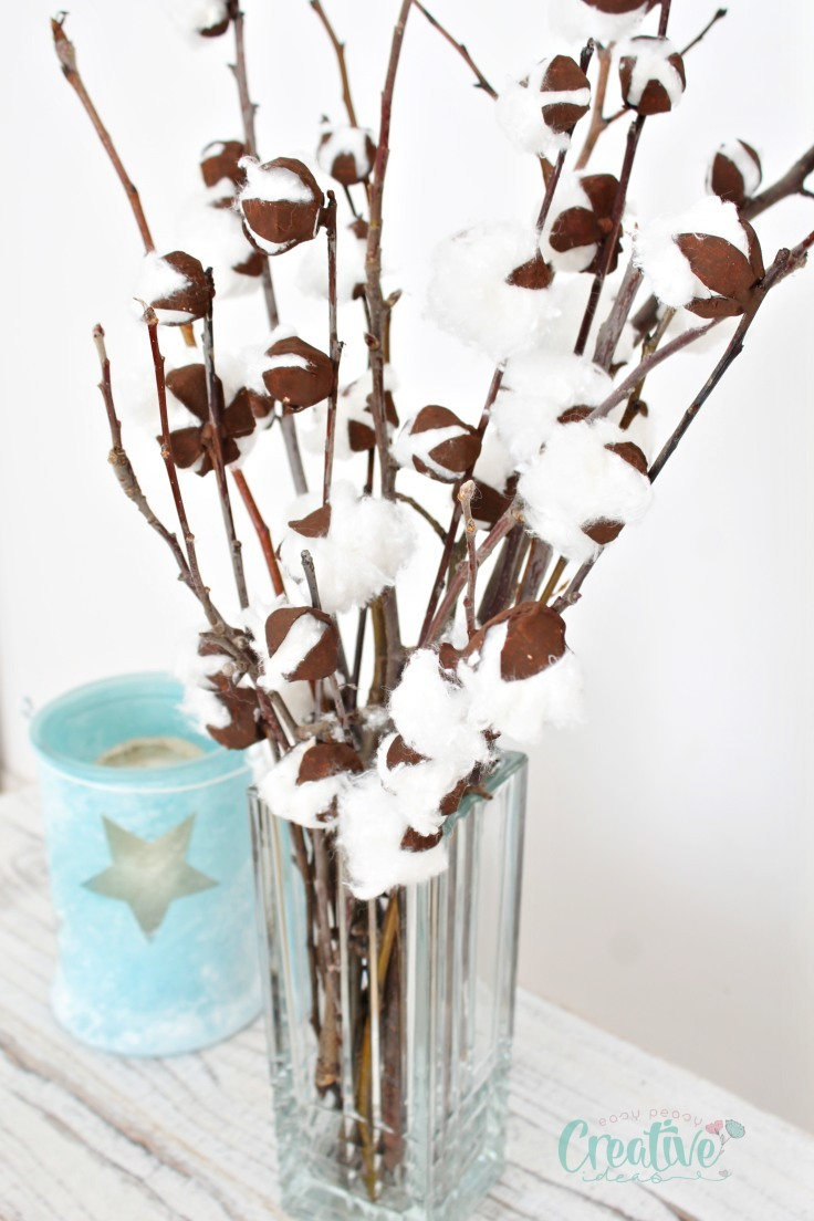 Cotton stem decor