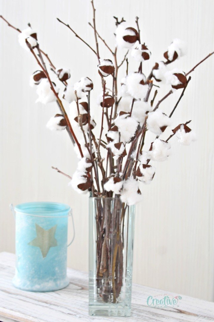 Cotton Branches Simple Affordable Diy Farmhouse Decor