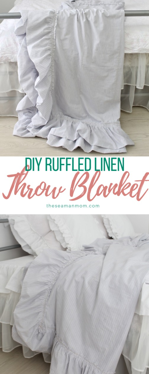 DIY throw blanket