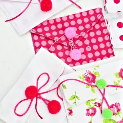 Valentine Fabric Envelopes Sewing Tutorial