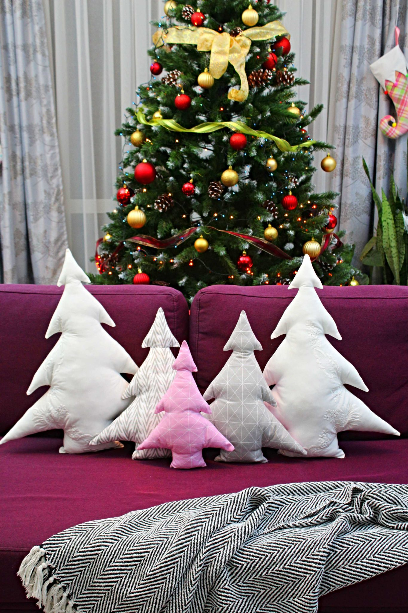 Christmas decorative pillows. Holiday pillows