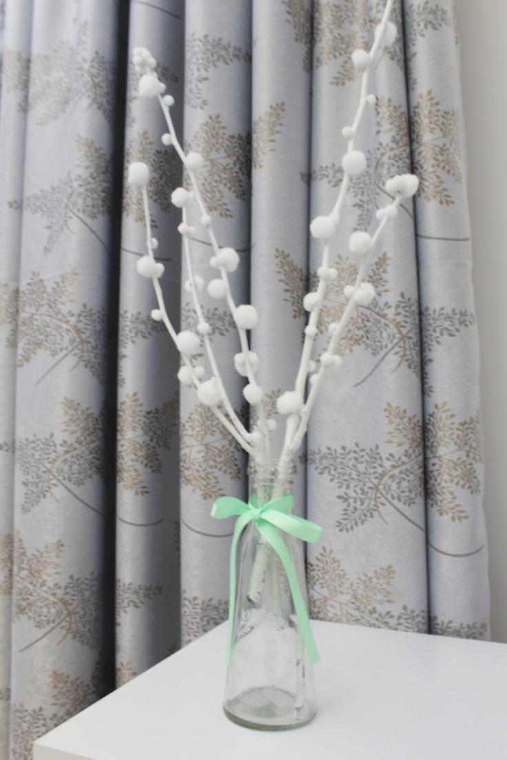 White tree branches decor